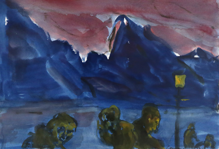 KEVIN CONNOR   Mountain Studies, N.Z. (40 , 2016  watercolour on paper  28 x 40 cm
