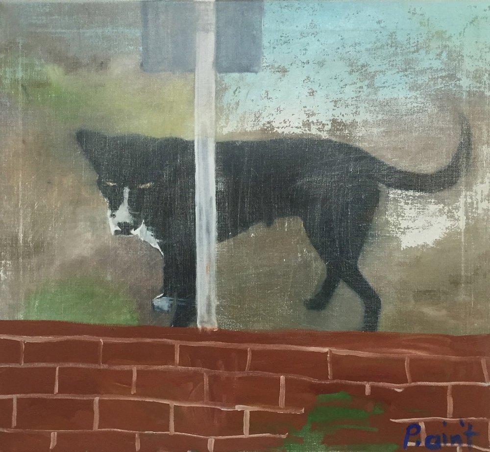 NICK COLLERSON   Pet Portrait, 2017  oil on linen  92 x 102 cm