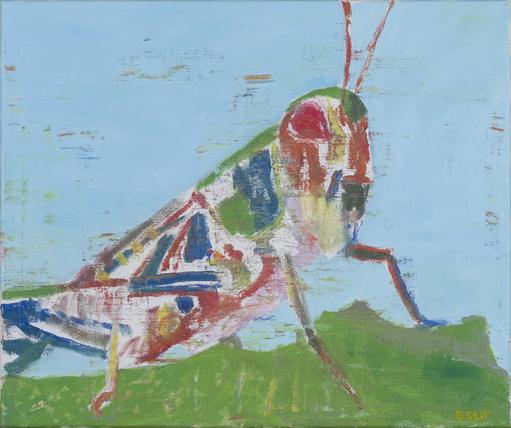 NICK COLLERSON   Grasshopper , 2017  oil on linen  51.5 x 61 cm