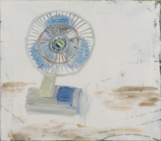 NICK COLLERSON   A Fan , 2017  oil on linen  71 x 82 cm