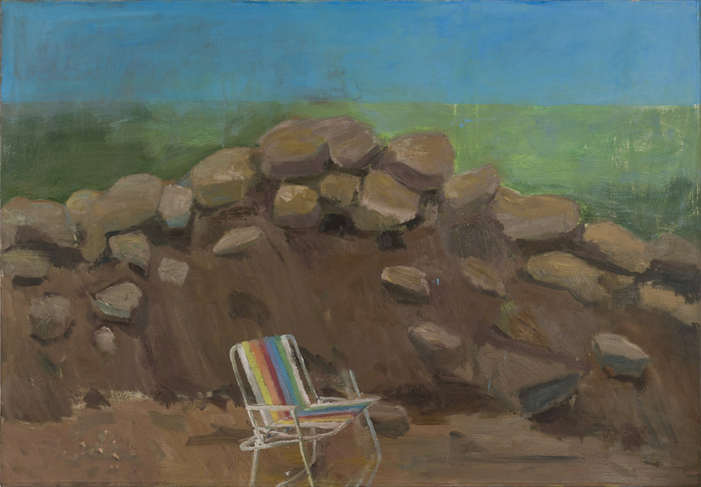 NICK COLLERSON   Pile of Dirt , 2017  oil on linen  137 x 198 cm