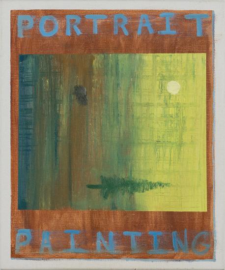 NICK COLLERSON   Portrait Painting , 2017  oil on linen  51 x 61 cm