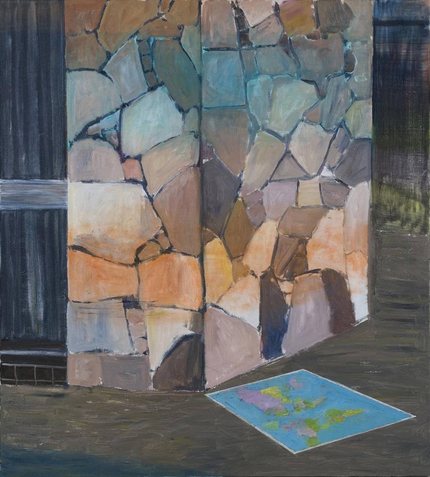 NICK COLLERSON   Corner , 2017  oil on canvas  153 x 137.5 cm