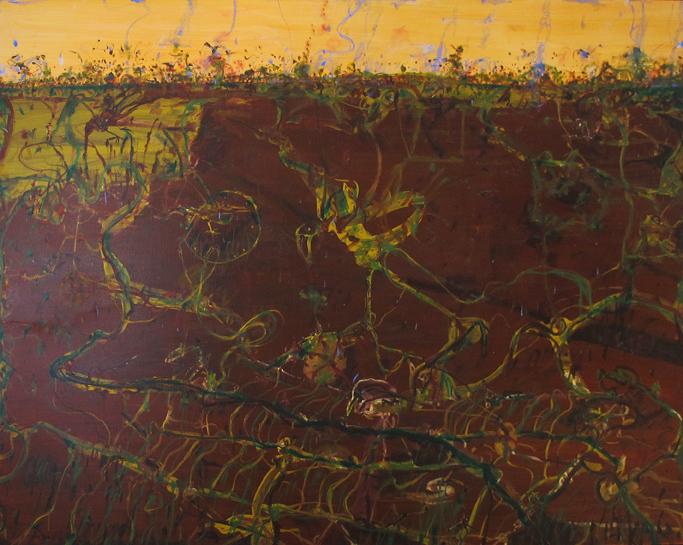 JOHN OLSEN  Wetlands , 2005 oil on canvas 184 x 254 cm