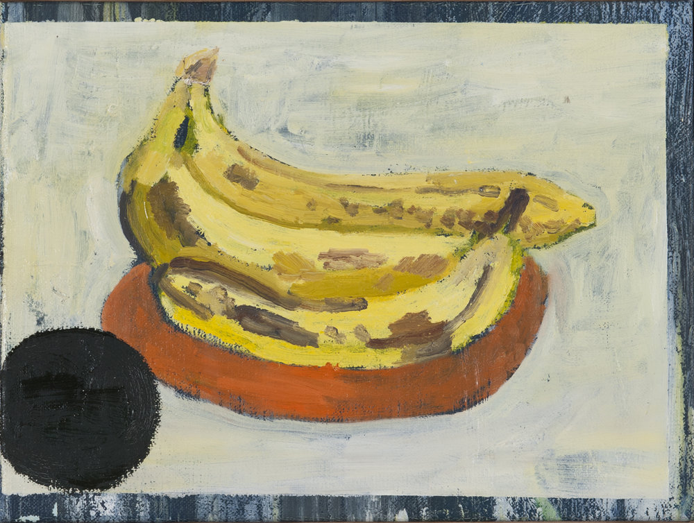 NICK COLLERSON  Bananas , 2016 oil on linen 27.5 x 37 cm