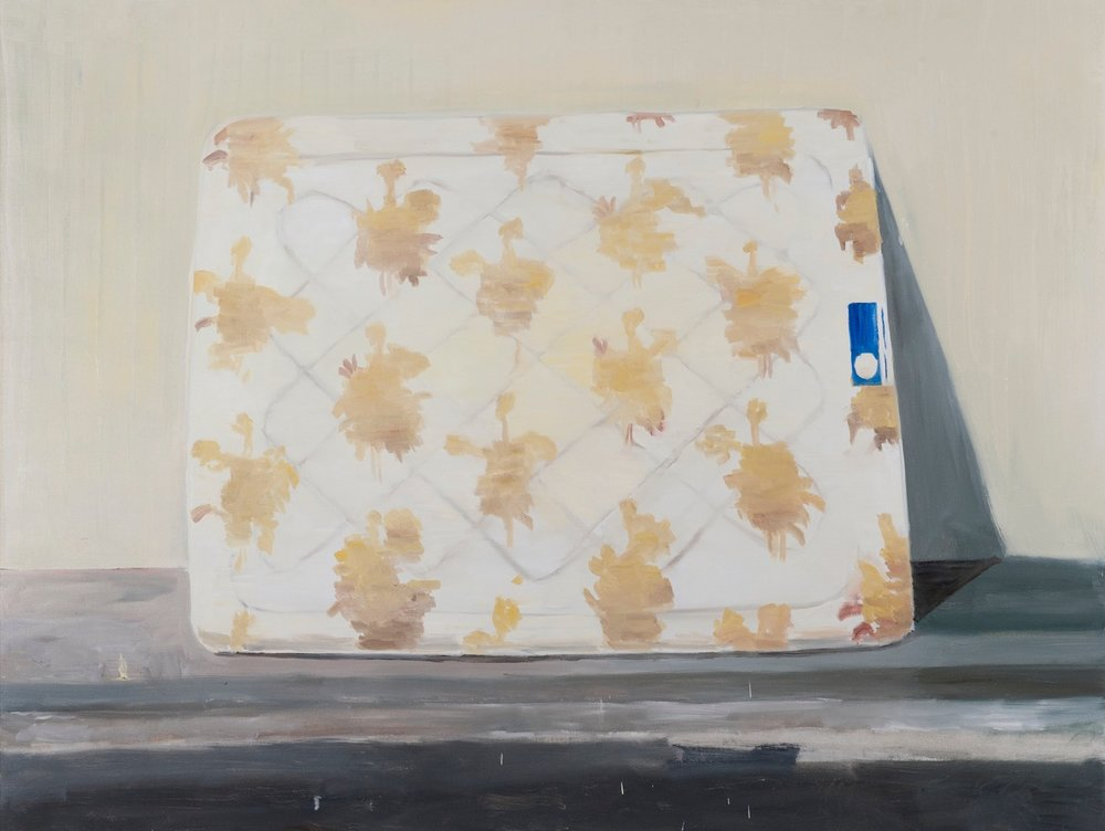 NICK COLLERSON  Mattress , 2016 oil on linen 137 x 183 cm
