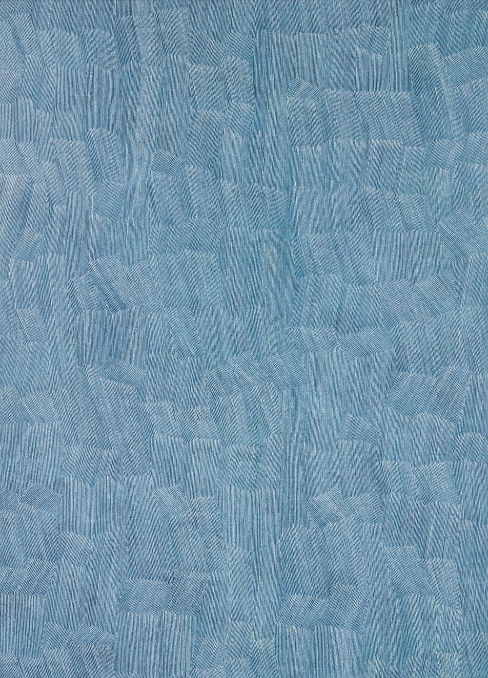 KARL WIEBKE  56-18 white on blues , 2018 acrylic on linen 83 x 60 cm