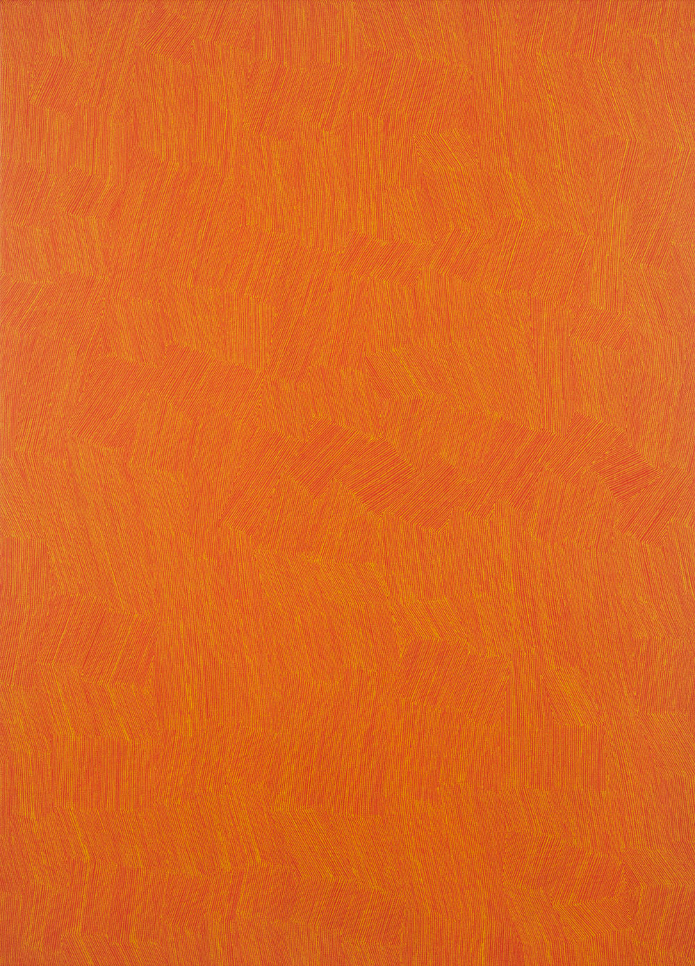 KARL WIEBKE  53-17 yellow on orange , 2017 acrylic on linen 83 x 60 cm