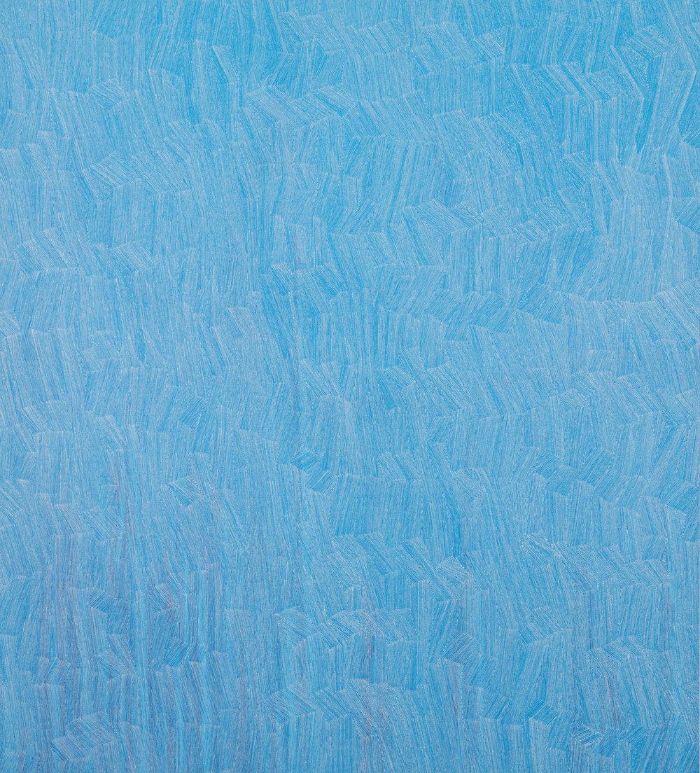KARL WIEBKE  55-18 white on blues , 2017 acrylic on linen acrylic on linen 150 x 135 cm