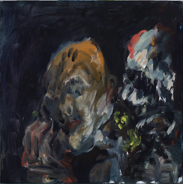 Kevin Connor  Night Faces , 2009 - 2010 oil on board 40 x 40 cm