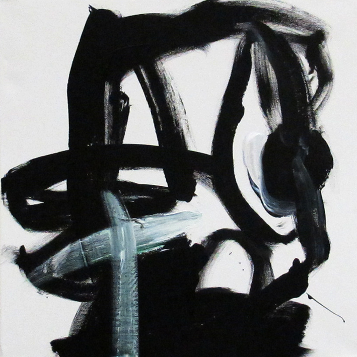 DICK WATKINS  Bud Powell , 2012 acrylic on canvas 45.5 x 45.5 cm
