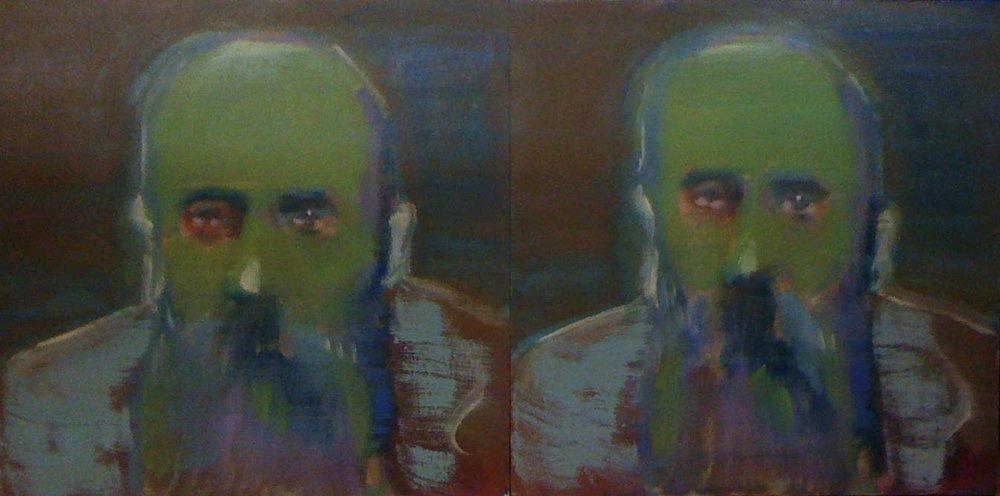 SETH BIRCHALL  Vuillard , 2011 oil on board 40 x 80 cm