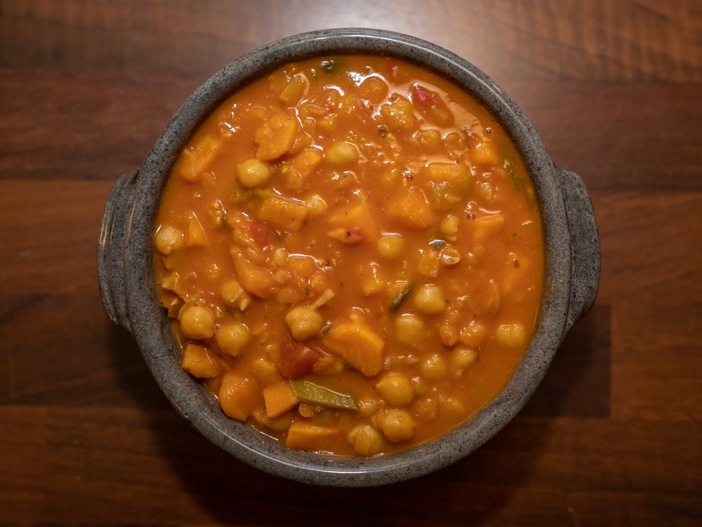 Kokos- og tomatgryte inspirert av den jeg fikk servert på et Spire-arrangement for litt siden.jpg