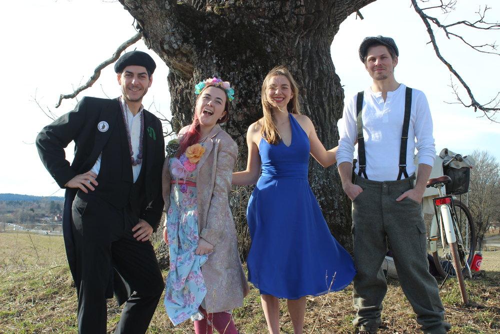From the left: Leo Tetrel, Lish Earnest, Kelsey Barnhill and Daniel Lohmann