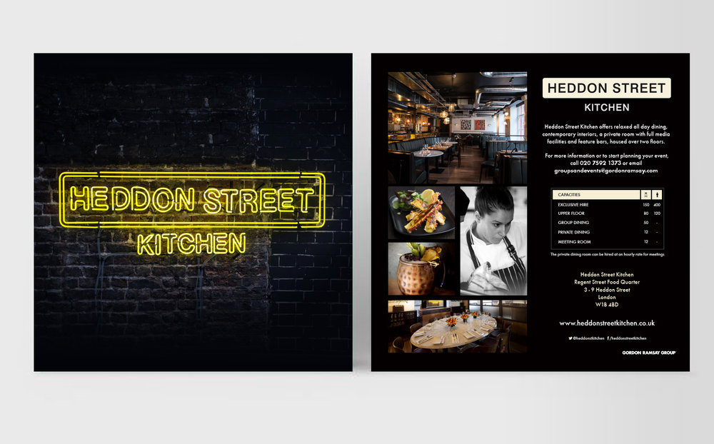 Heddon Street Kitchen:  Promotional advertising