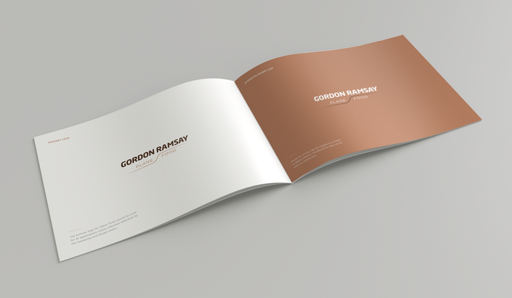 Gordon Ramsay Plane Food:  Brand identity / guidelines