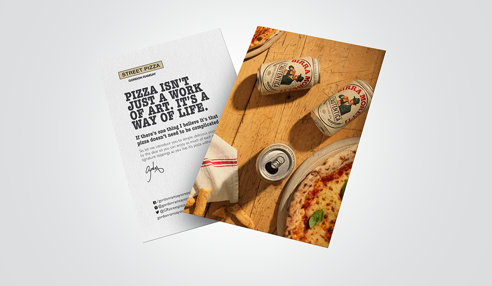 Street Pizza Promotional Material