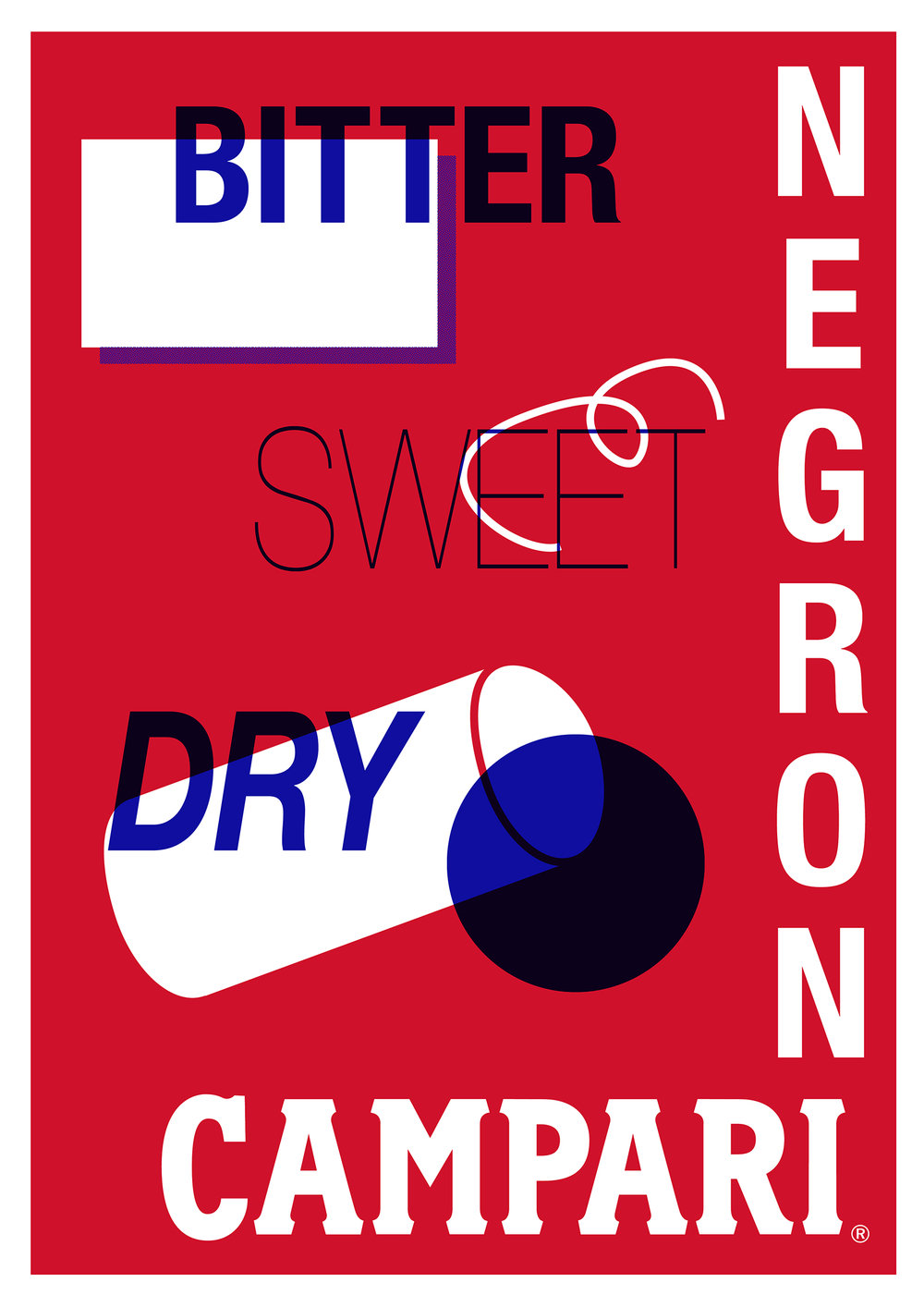 Campari | Negroni Poster | By James-Lee Duffy