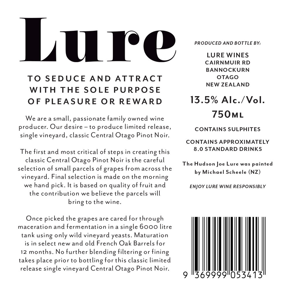 Lure Wine | Design | By James-Lee Duffy