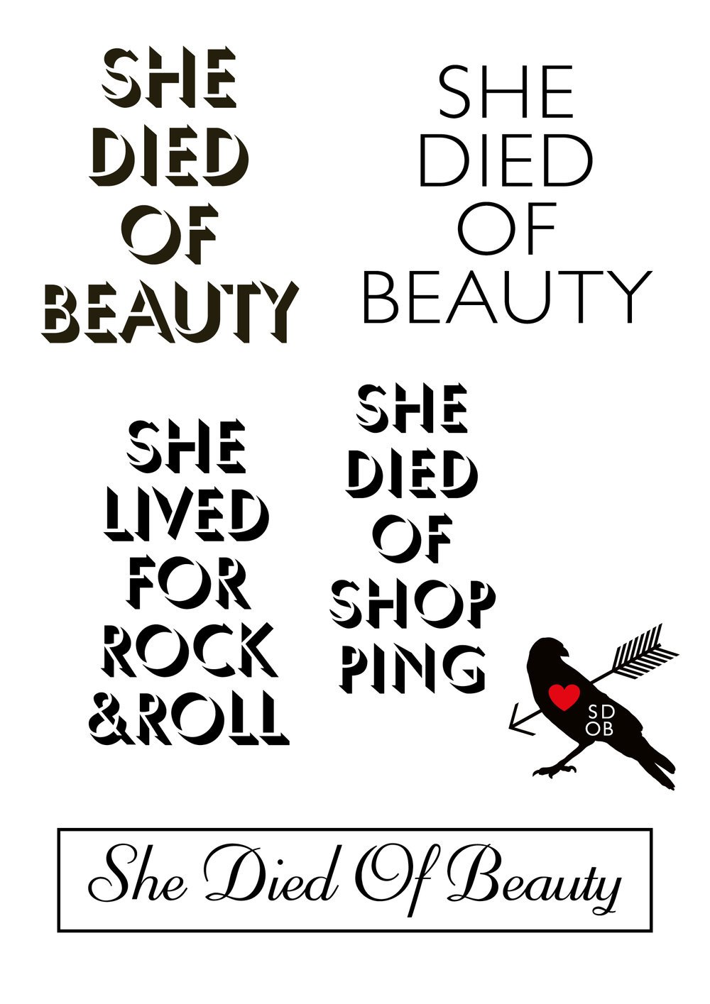 She Died Of Beauty   Art Direction   Design   By James-Lee Duffy