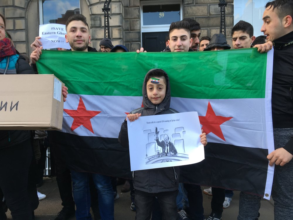 Mohammad, Hadi and Sabah from Syria, in Edinburgh (2018)