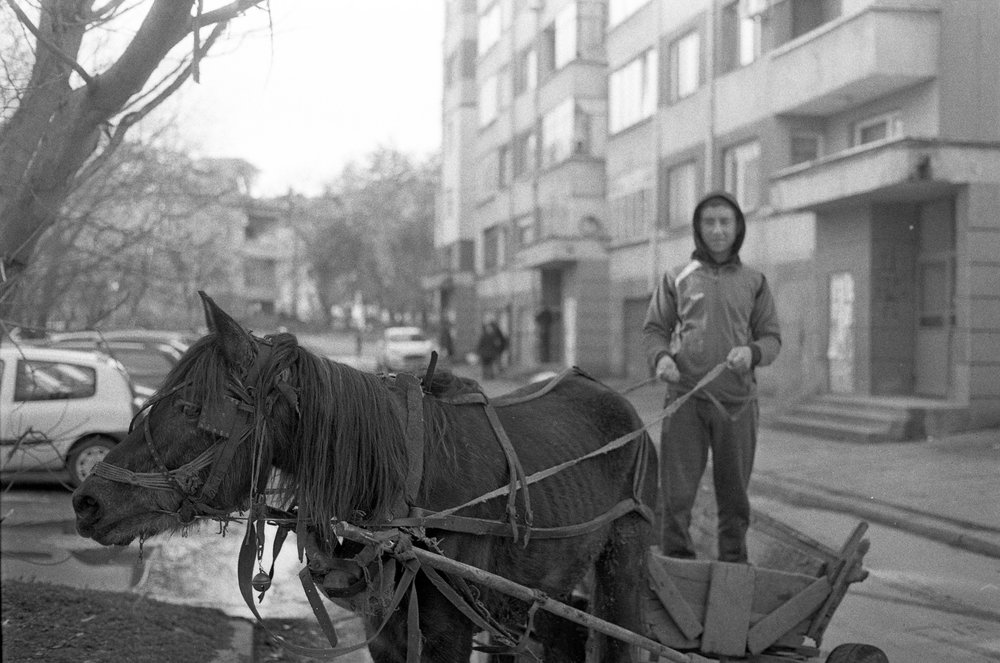Roma man and his horse (2018)