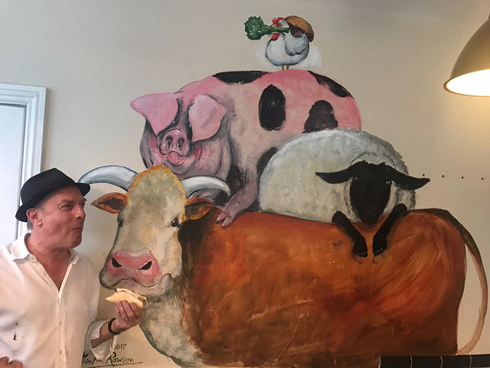 Mural for Heckstall & Smith Butchers, Ladywell