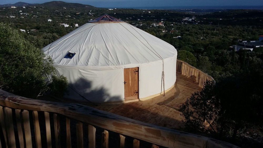 view of the yurt from middle deck.jpg
