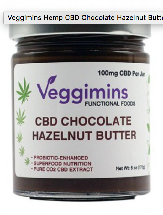 Veggimins CBD Chocolate Hazelnut Spread + Probiotics