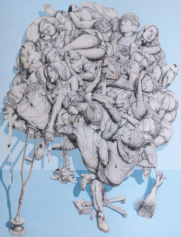 7.Artificial-균형의 환타지, 벽화기법, 182x228, 2013.jpg