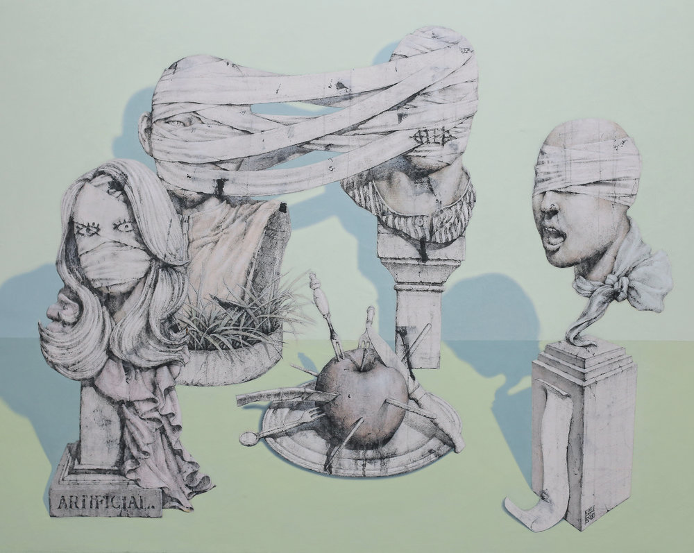 51.head-Last Supper(최후의만찬) 벽화기법, 116X90, 2013.jpg