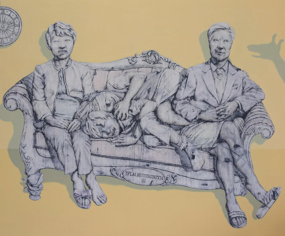 52,Artificial- illusion family(NO.1) 140x170 벽화기법, 2013.jpg