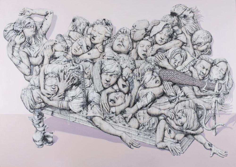 7.Artificial-균형의 환타지II, 벽화기법, 160x210, 2015.jpg