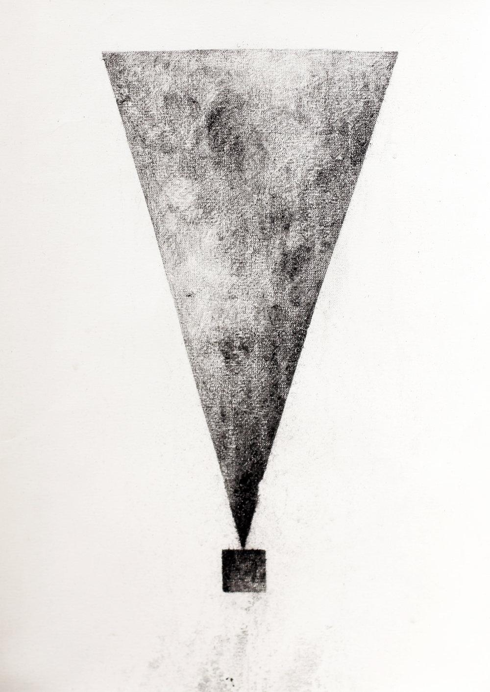 Triangle square / 세모 네모    Charcoal on terra paper, 40x25cm, 2018
