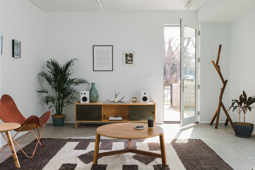 Sit, lay & put your feet up in person. - 3118 Humboldt St. Denver, CODesigned by Frank Lloyd Wright School of Architecture graduate Christian Butler, this beautiful modern home is yours to tour and shop hundreds of local makers inside. Hours: Fri-Sat, 10am-3pm