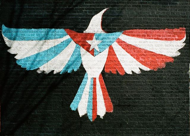 """""""Cuba y Puerto Rico son de un pájaro, las dos alas"""" - José Martí #eastharlem #elbarrio #35mmfilm"""