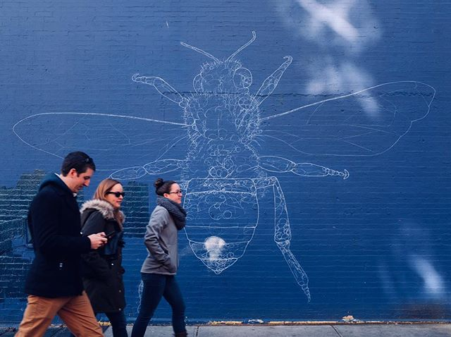 Busy bees — East 111th Street