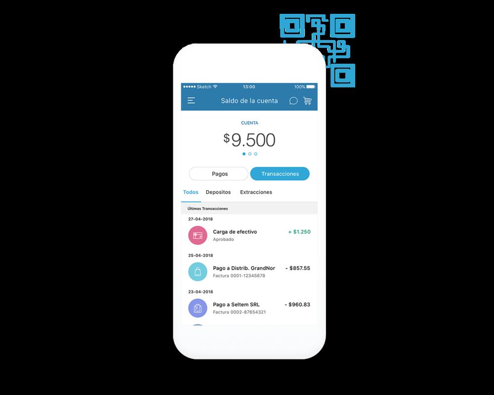 Pagos digitales - Transacciones online entre todos los integrantes.Lote de pagos y pagos de e-commerce.Desde y hacia cualquier dispositivo.Pagos con código QR.