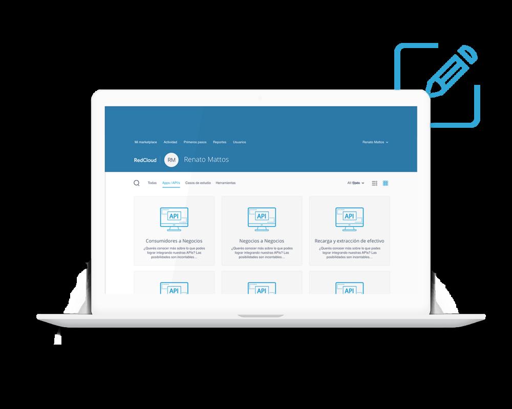 Módulo de integración inteligente - Integración a través del Módulo de Integración Inteligente de RedCloud, utilizando las API abiertas a través del Portal Developer de RedCloud para desarrolladores de software.
