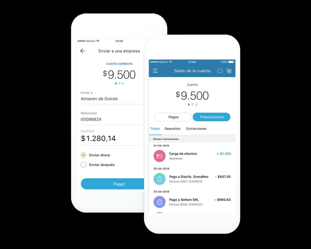 Generador de transacciones - Procesamiento rápido y seguro de transacciones entre cuentas digitales.Cuentas de valor depositado o mantenido en bancos externos.Cuentas de fidelización y recompensas.