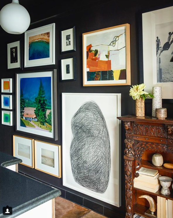 Source Neal Beckstedt's use of black is the perfect backdrop for both colorful and textural art and objects. Photographed by Eric Piasecki.