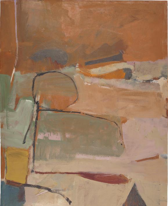 Untitled (Albuquerque) oil on canvas by Richard Diebenkorn, circa 1951