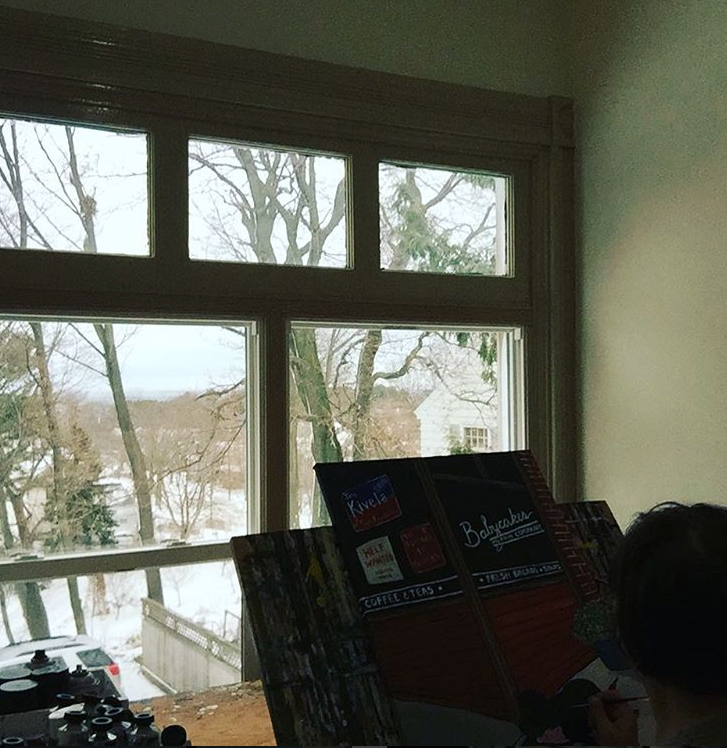 Photo courtesy of Marybeth: view from her easel.