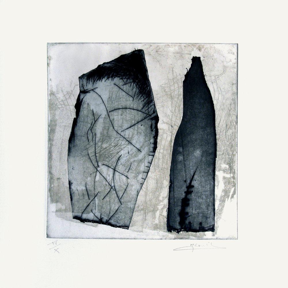 Conversation , 2012 Eau forte et pointe sèche, 36x36 cm