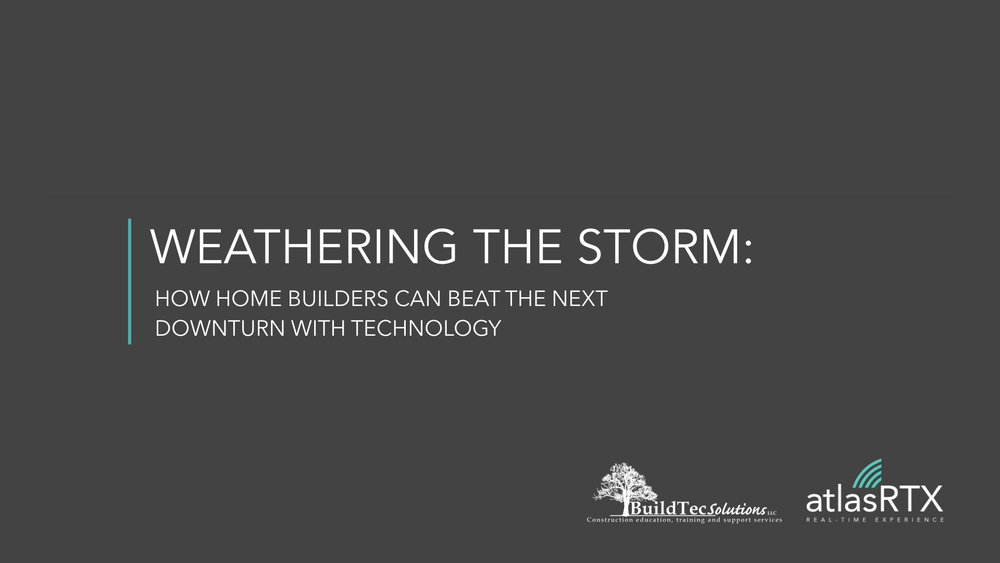Weathering the Storm: How Home Builders Can Beat the Next Downturn with Technology