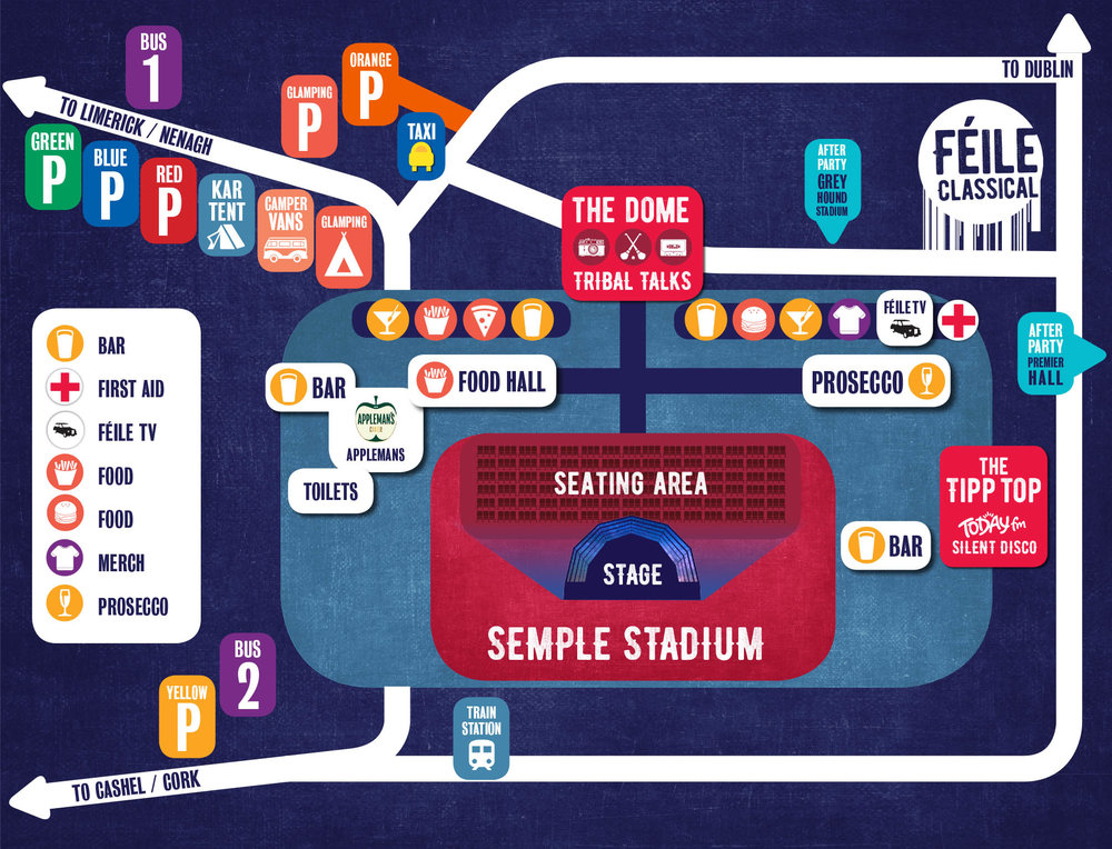 Féile TV Zone, located to the right of The Dome.