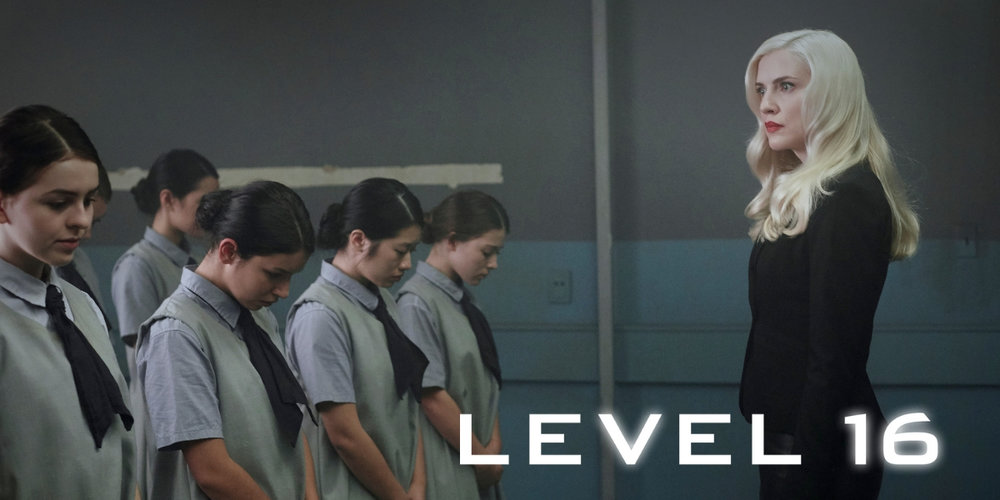 Level 16  Futuristic Thriller Written & Directed by: Danishka Esterhazy Playing in select theatres and available on   VOD    Sixteen-year-old Vivien is trapped in The Vestalis Academy, a prison-like boarding school, keeping to herself and sticking her neck out for no one. Until she is reunited with Sophia -- the former friend who betrayed her. Together the girls embark on a dangerous search to uncover the horrifying truth behind their imprisonment. Soon running for their lives, the girls must save themselves or die trying…    READ MORE