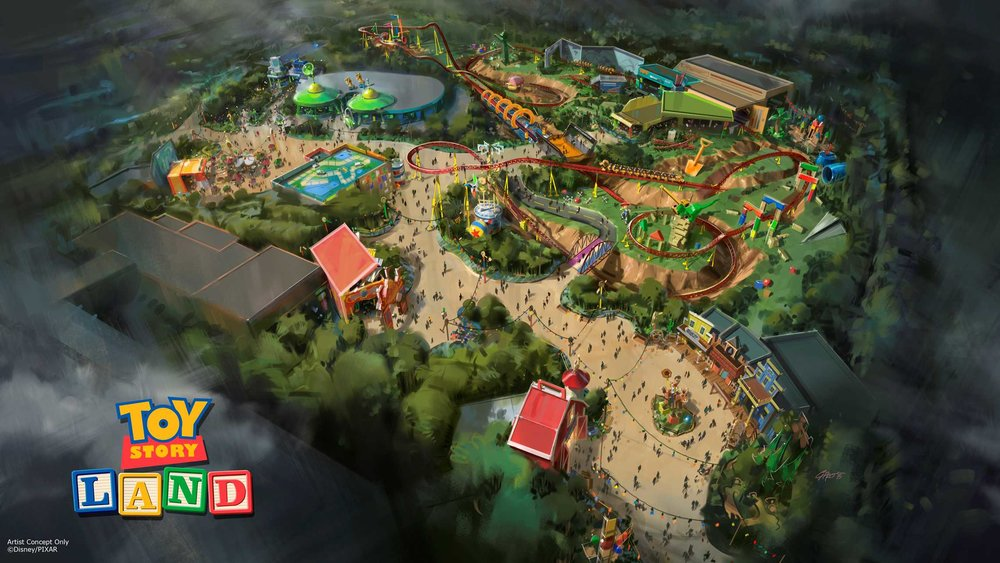 Original Concept art for Toy Story Land from 2015