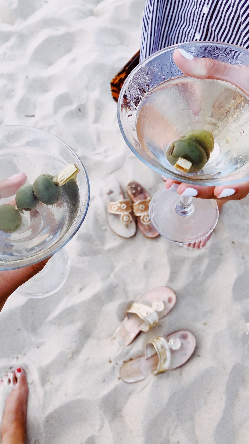 Dirty Martinis on the Beach at Galley.