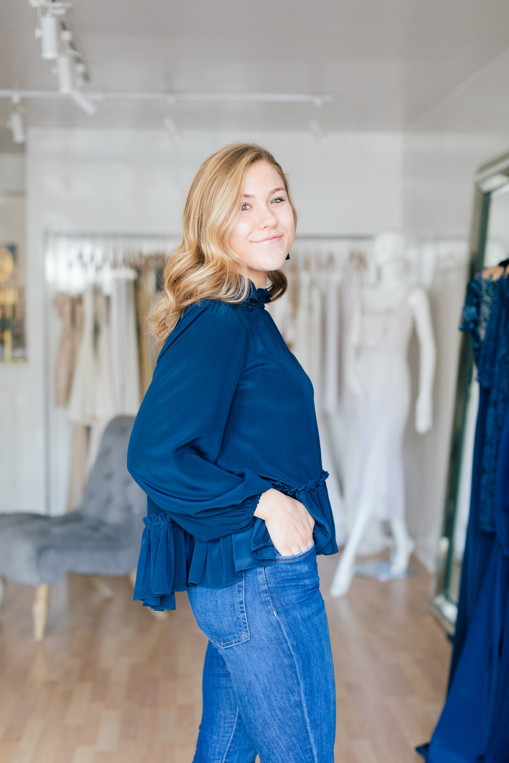 A Fall must-have...explore different ways to style the Rory Top, available at the Boutique! Made of luxurious silk crepe de chine, the Rory Top is perfect for your day into night wardrobe. Just pop on a pair of heels and a change of accessories!